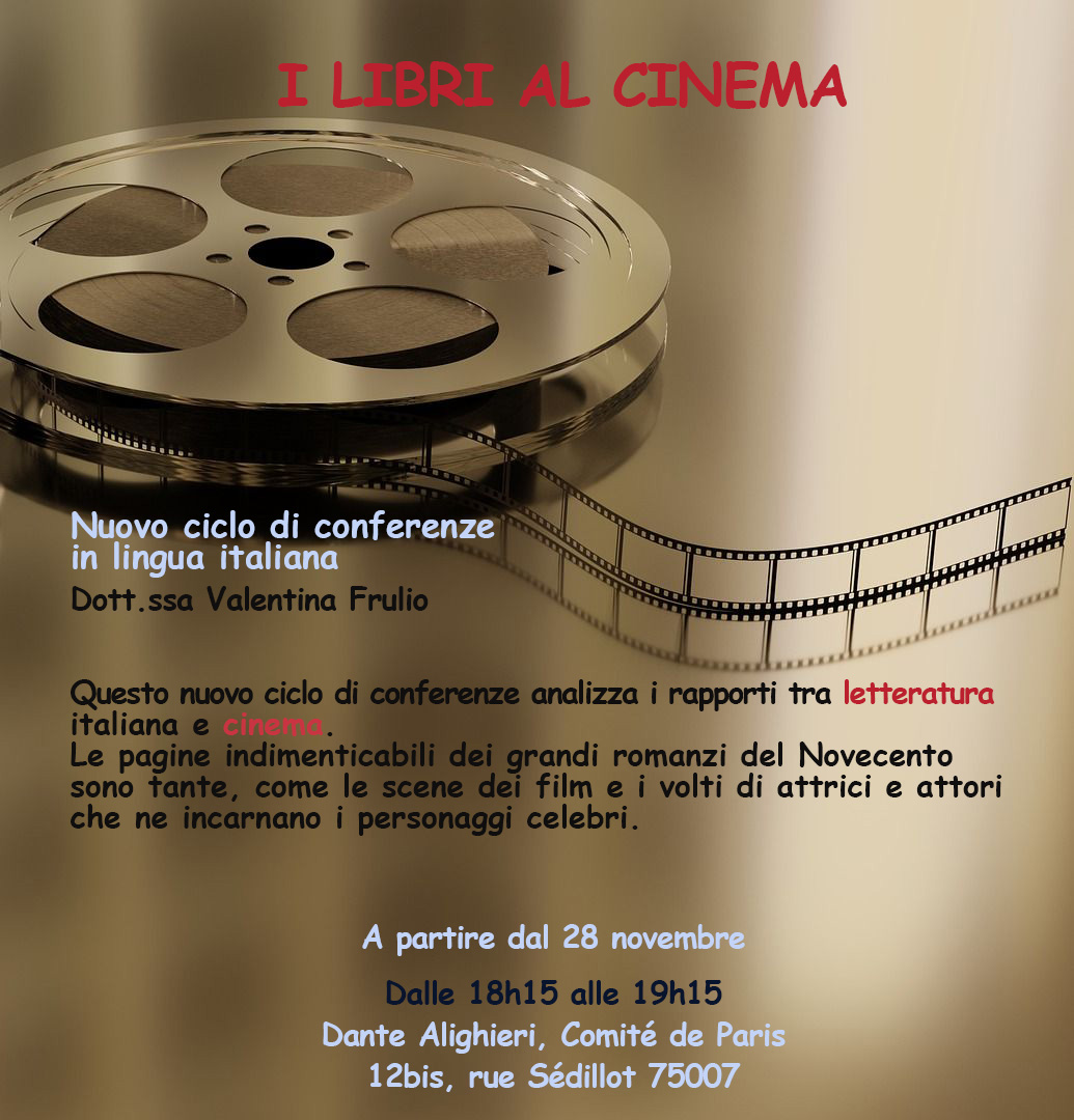 I LIBRI AL CINEMA @ Dante Alighieri - Comité de Paris