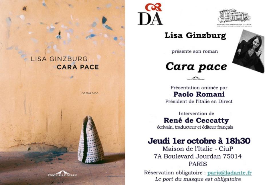"""Presentazione del nuovo libro di Lisa Ginzburg """"Cara pace"""" @ Maison de l'Italie - Cité Universitaire de Paris"""